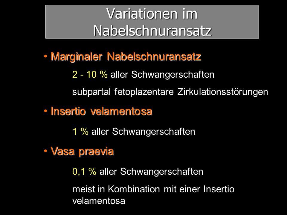 Variationen im Nabelschnuransatz
