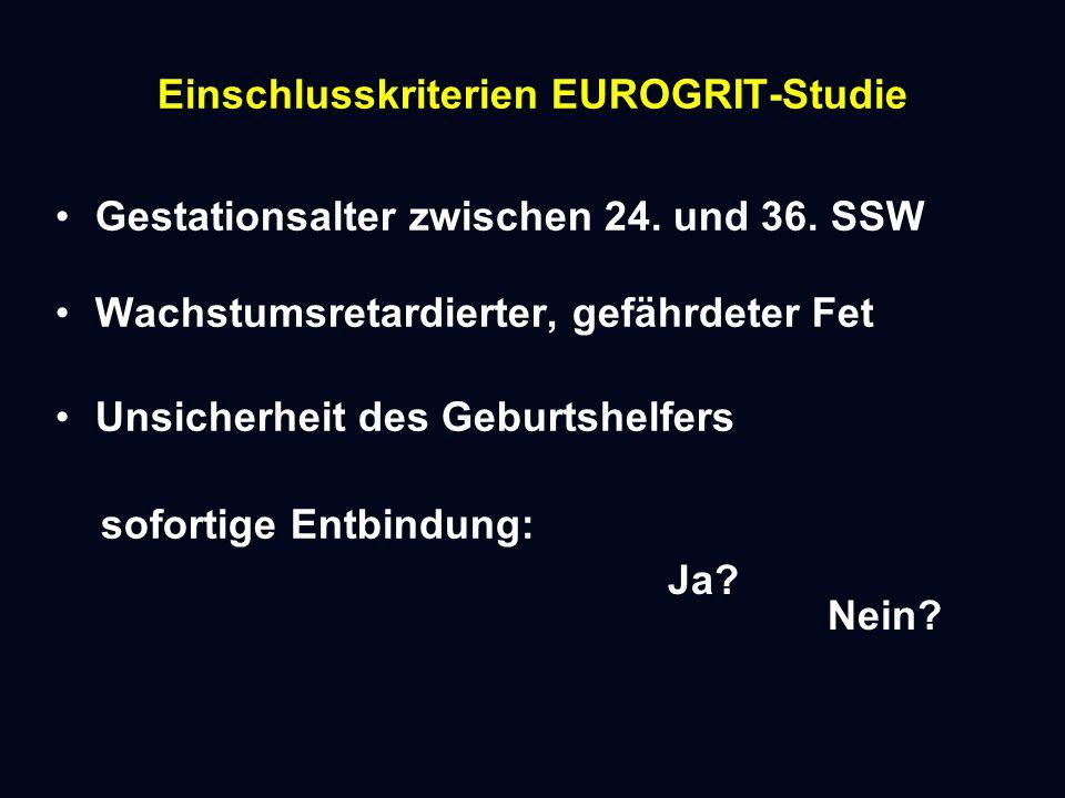 Einschlusskriterien EUROGRIT-Studie