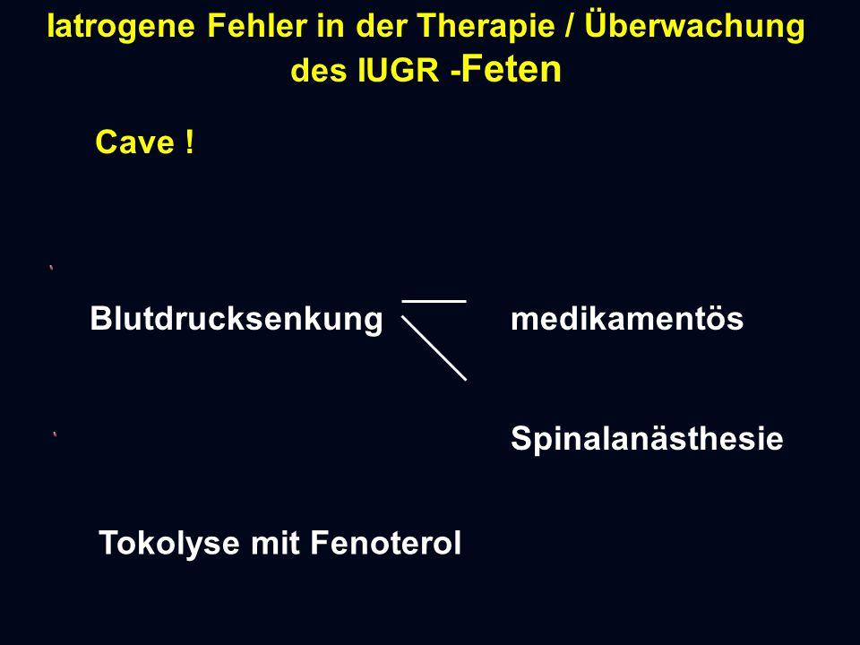 Iatrogene Fehler in der Therapie / Überwachung