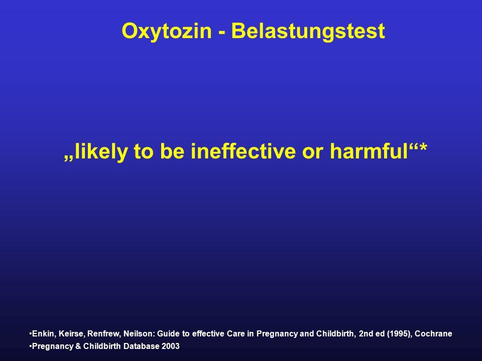Oxytozin - Belastungstest