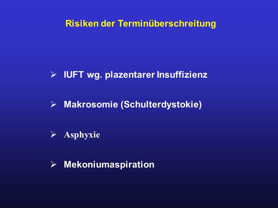 Risiken der Terminüberschreitung