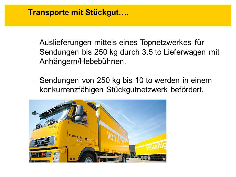 Transporte mit Stückgut….