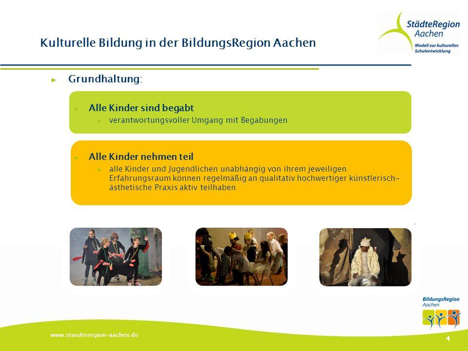 Kulturelle Bildung in der BildungsRegion Aachen