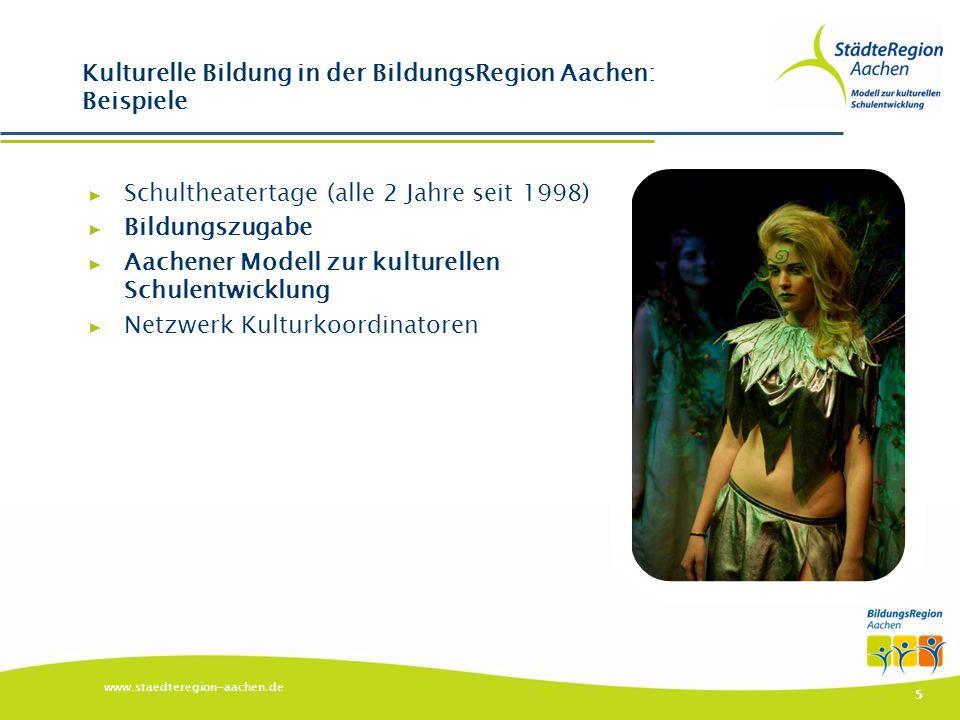 Kulturelle Bildung in der BildungsRegion Aachen: Beispiele