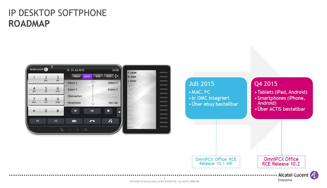 IP DESKTOP SOFTPHONE ROADMAP