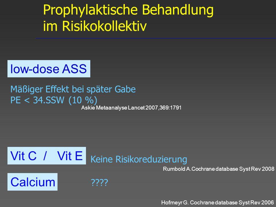 Prophylaktische Behandlung im Risikokollektiv