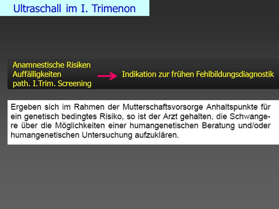 Ultraschall im I. Trimenon
