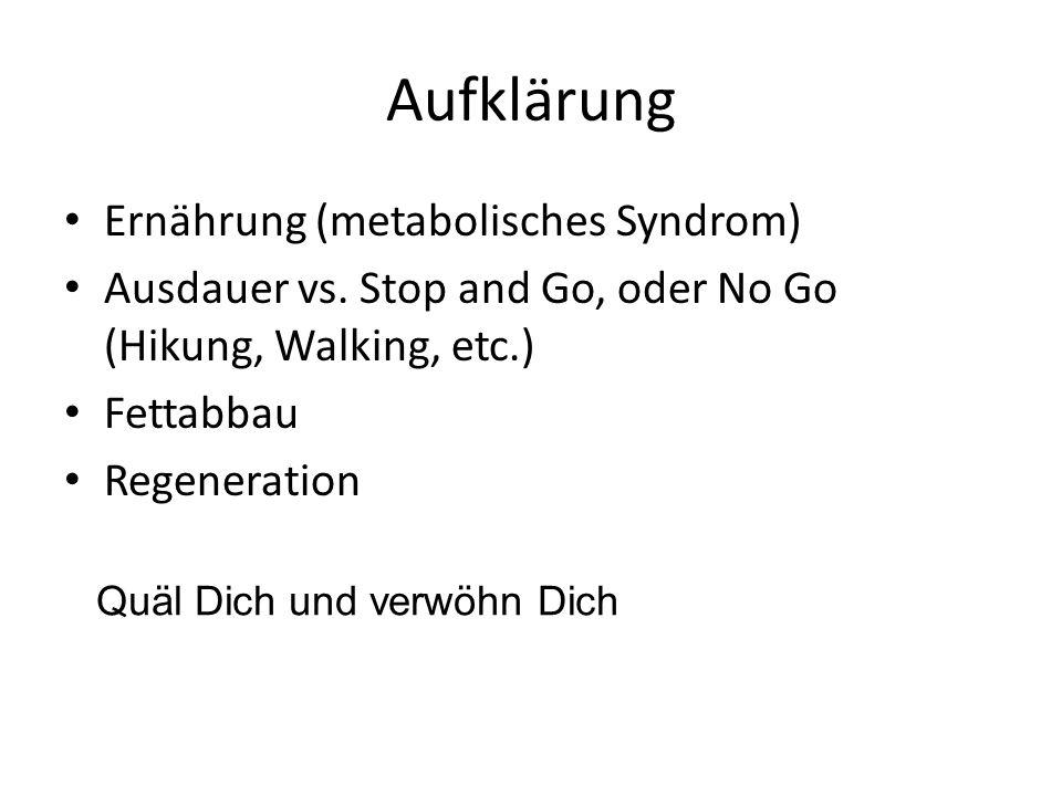 Aufklärung Ernährung (metabolisches Syndrom)