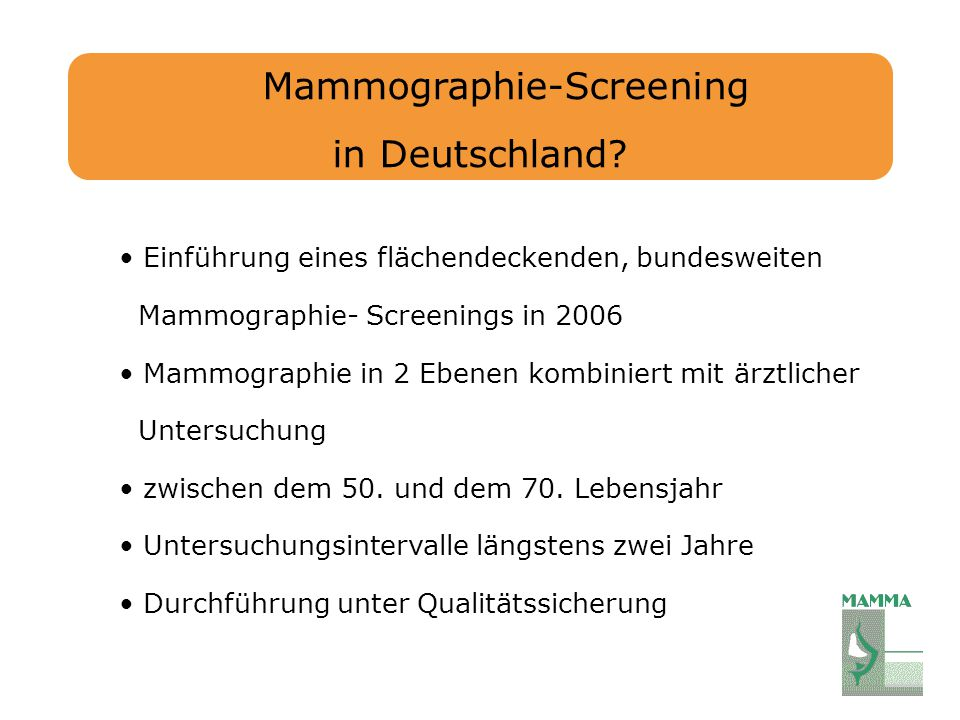 Mammographie-Screening in Deutschland