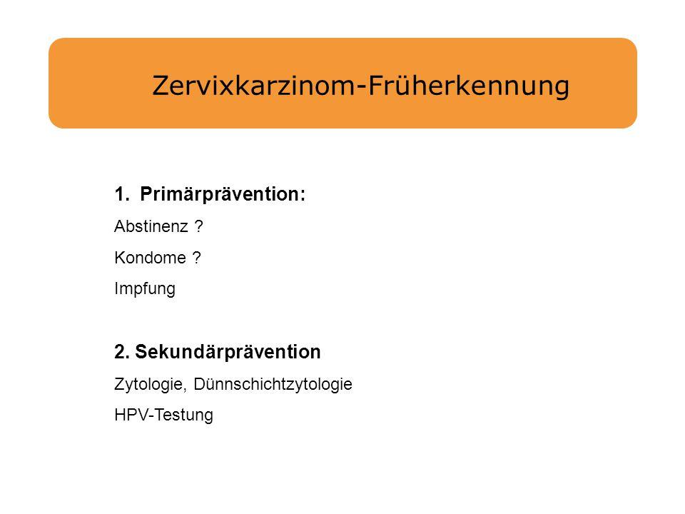 Zervixkarzinom-Früherkennung