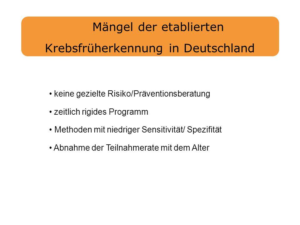 Mängel der etablierten Krebsfrüherkennung in Deutschland