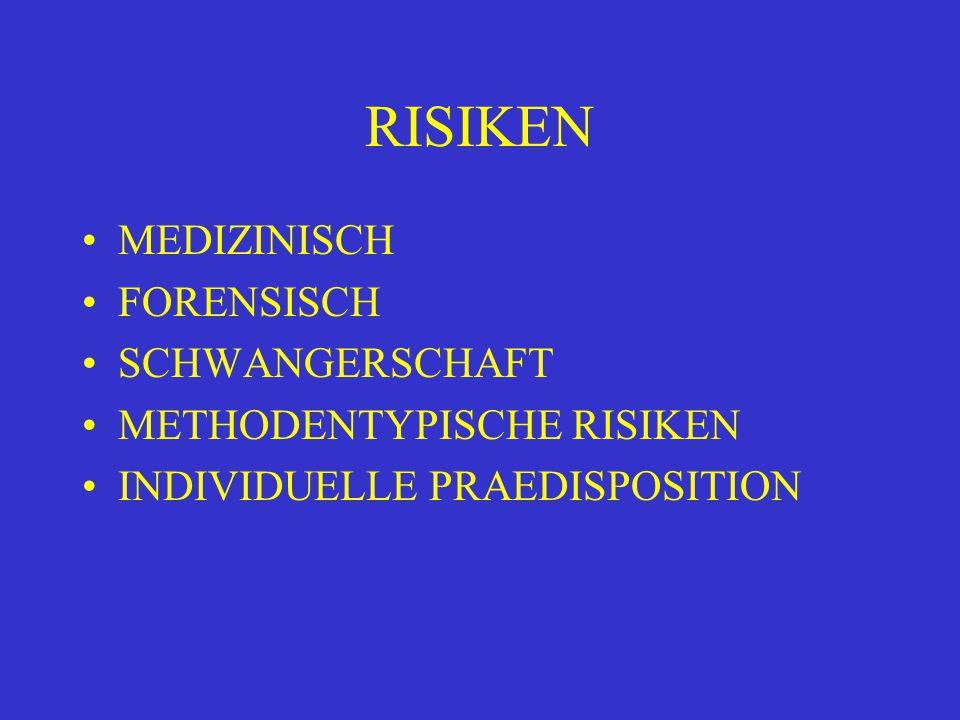 RISIKEN MEDIZINISCH FORENSISCH SCHWANGERSCHAFT