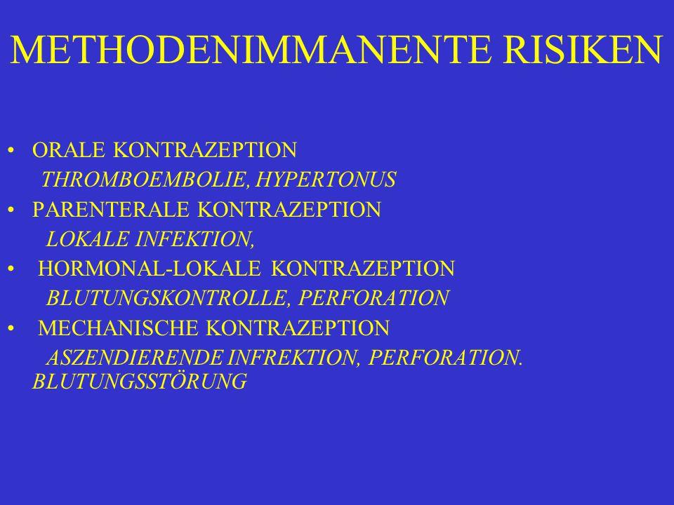 METHODENIMMANENTE RISIKEN