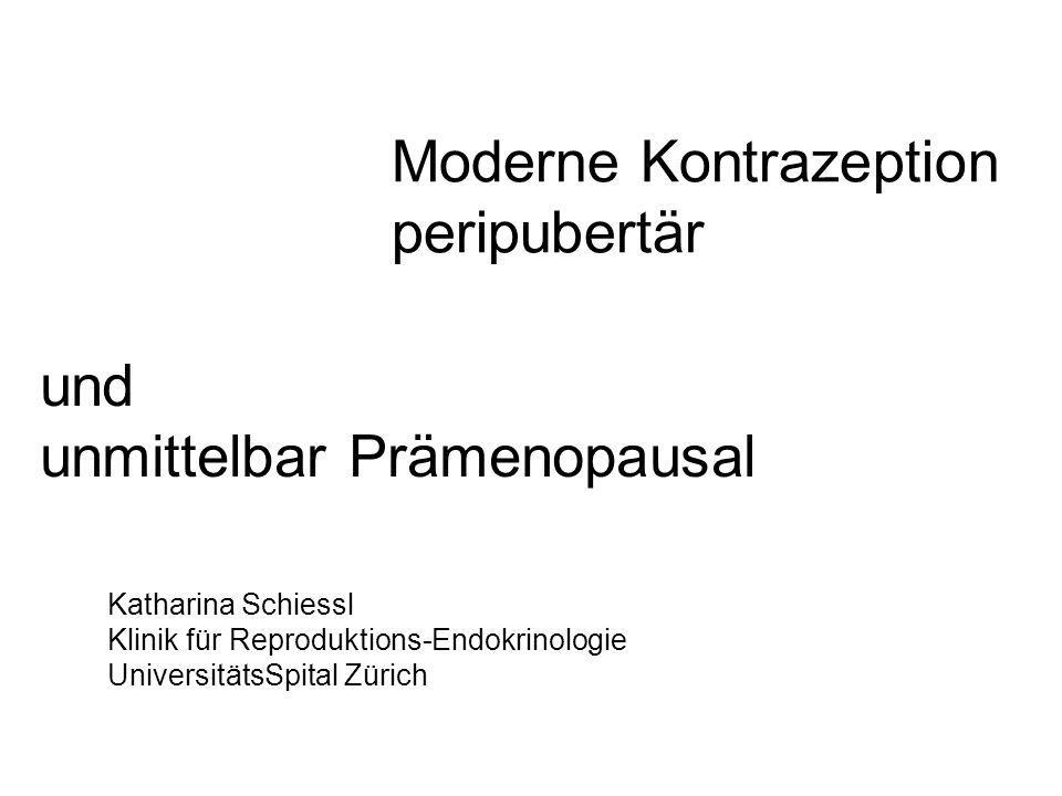Moderne Kontrazeption peripubertär
