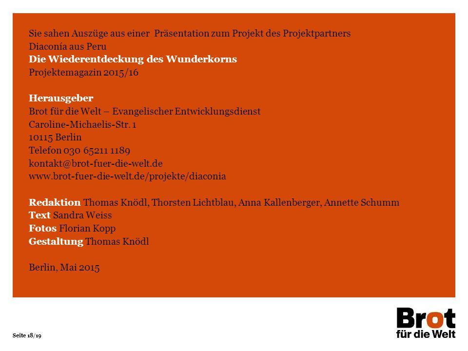 Die Wiederentdeckung des Wunderkorns Projektemagazin 2015/16