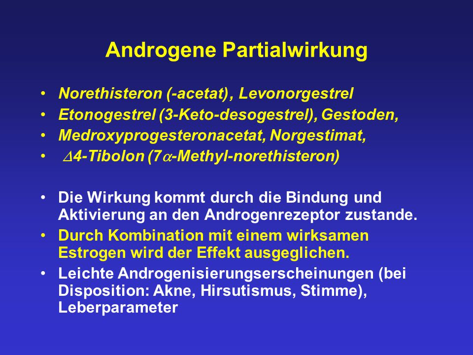 Androgene Partialwirkung