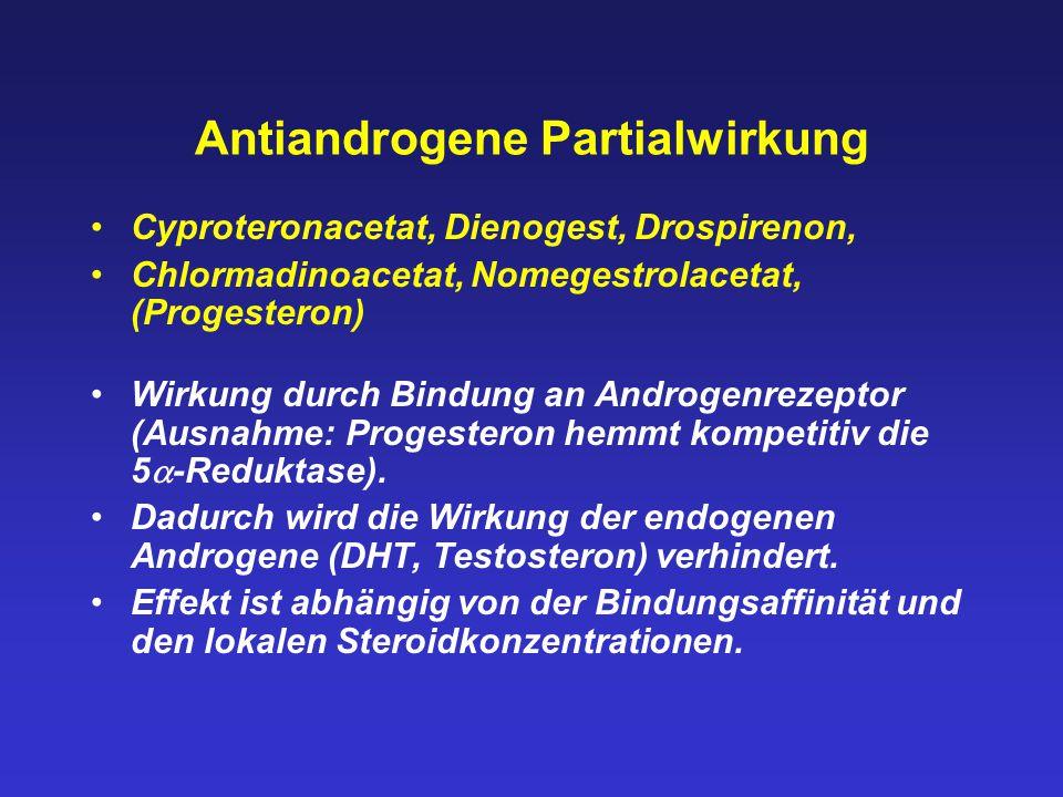 Antiandrogene Partialwirkung