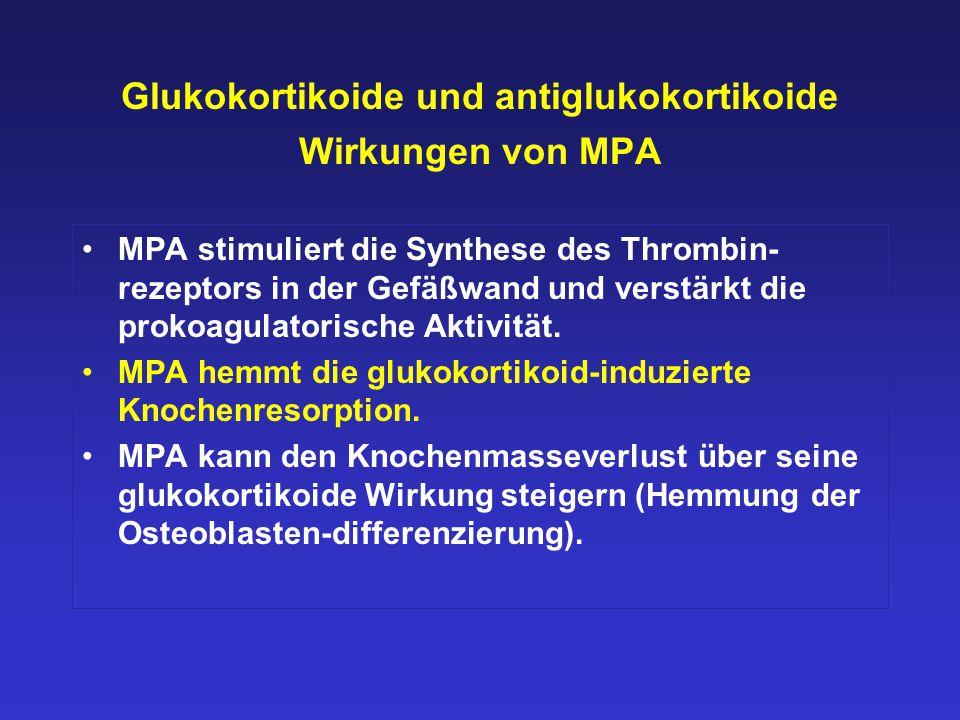 Glukokortikoide und antiglukokortikoide Wirkungen von MPA