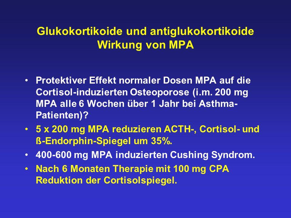 Glukokortikoide und antiglukokortikoide Wirkung von MPA