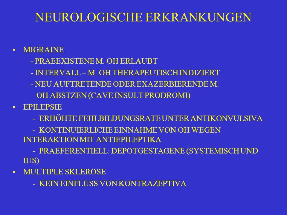 NEUROLOGISCHE ERKRANKUNGEN