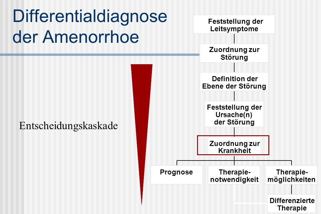 Differentialdiagnose der Amenorrhoe