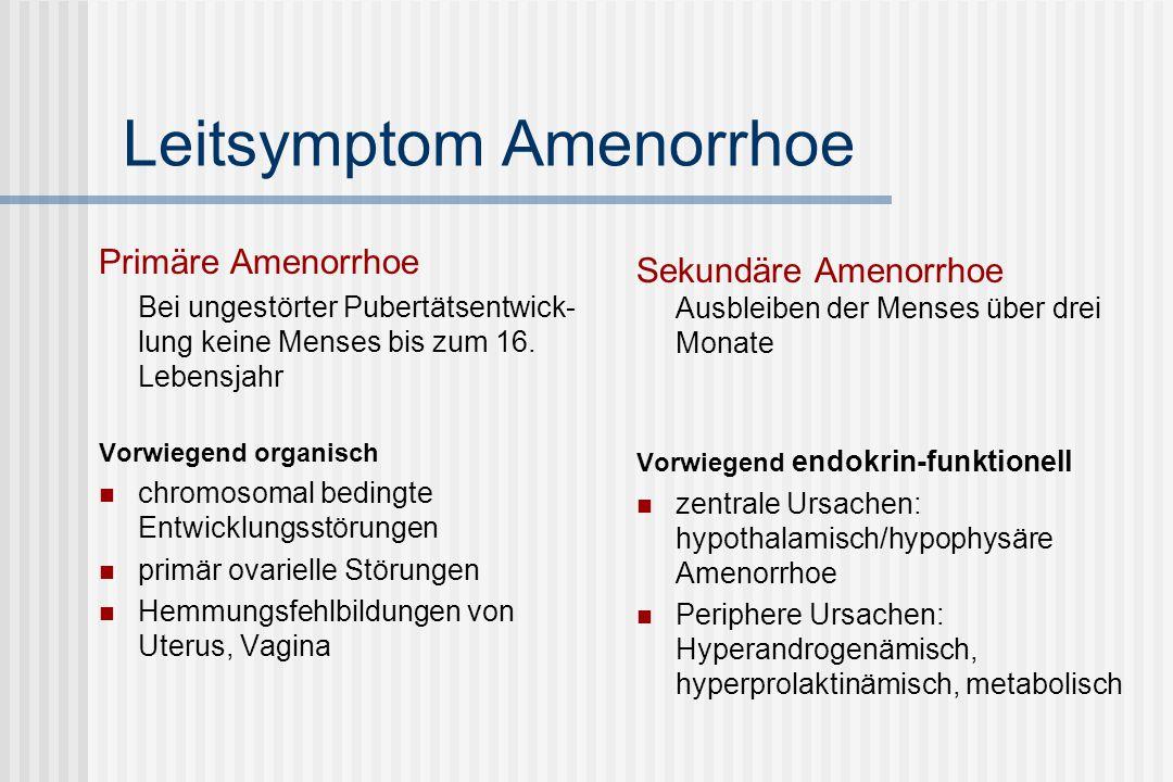 Leitsymptom Amenorrhoe