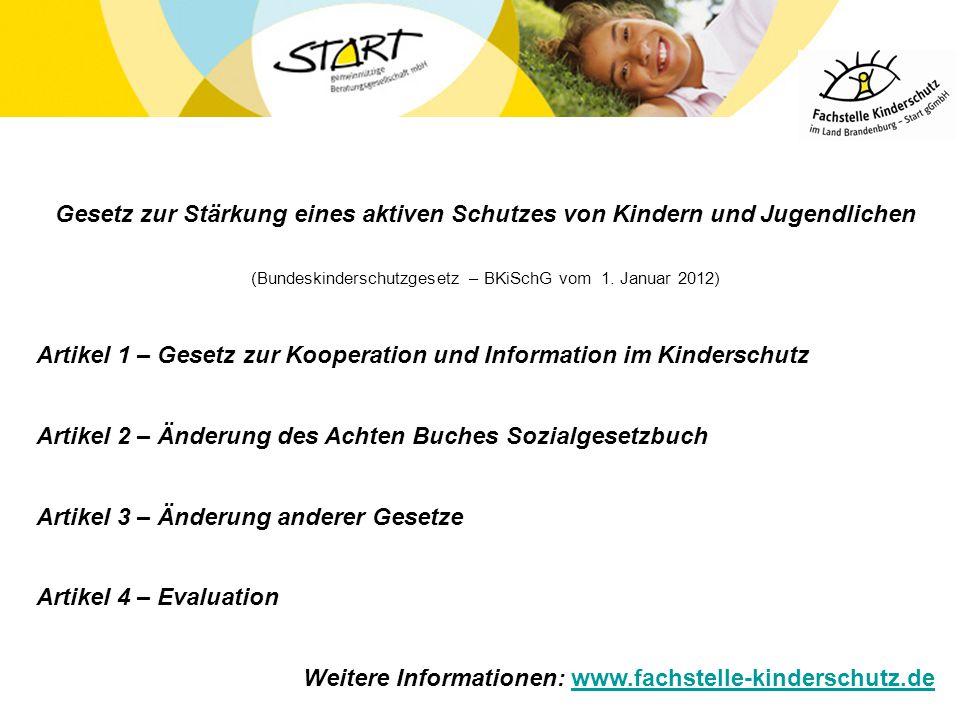 (Bundeskinderschutzgesetz – BKiSchG vom 1. Januar 2012)