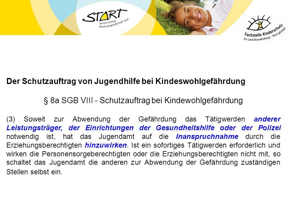 § 8a SGB VIII - Schutzauftrag bei Kindewohlgefährdung