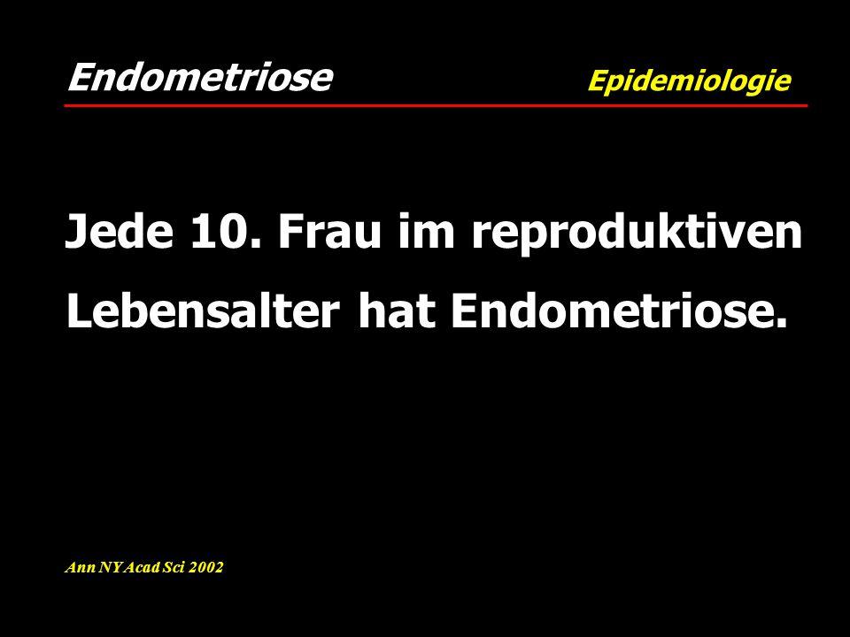 Jede 10. Frau im reproduktiven Lebensalter hat Endometriose.