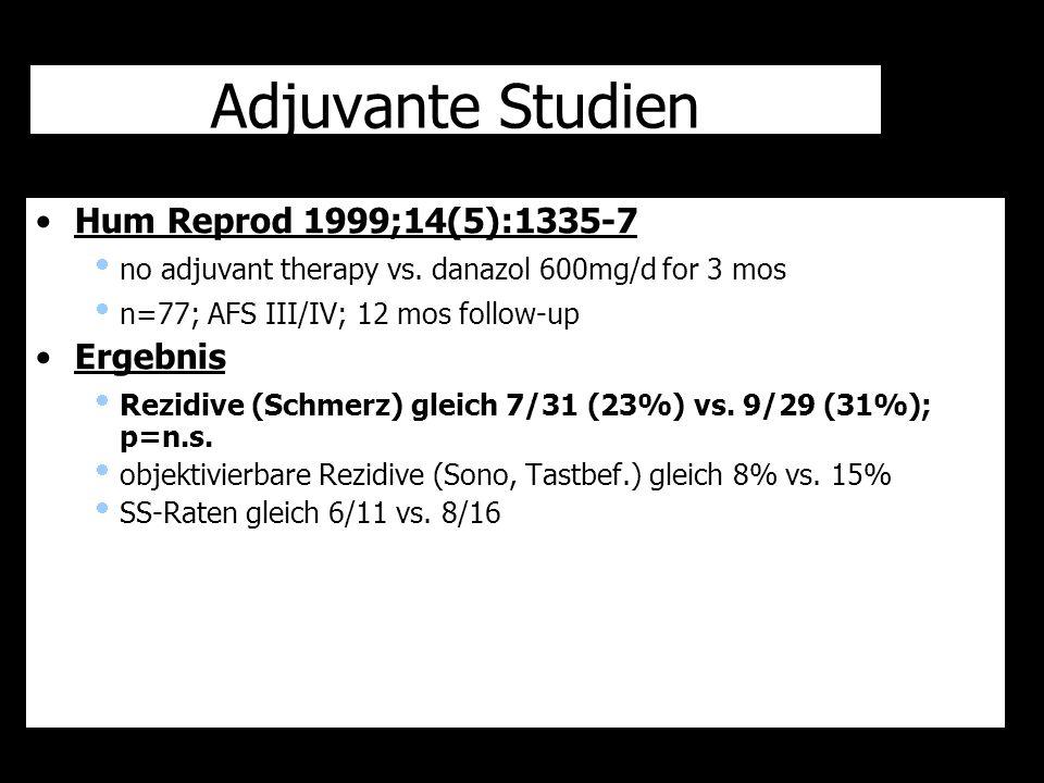 Adjuvante Studien Hum Reprod 1999;14(5):1335-7 Ergebnis