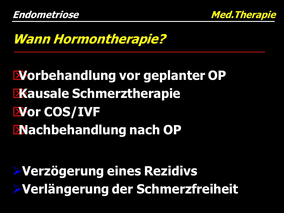 Endometriose Med.Therapie