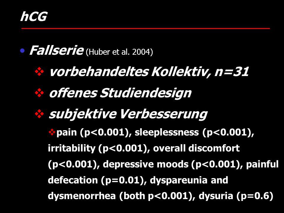 Fallserie (Huber et al. 2004) vorbehandeltes Kollektiv, n=31