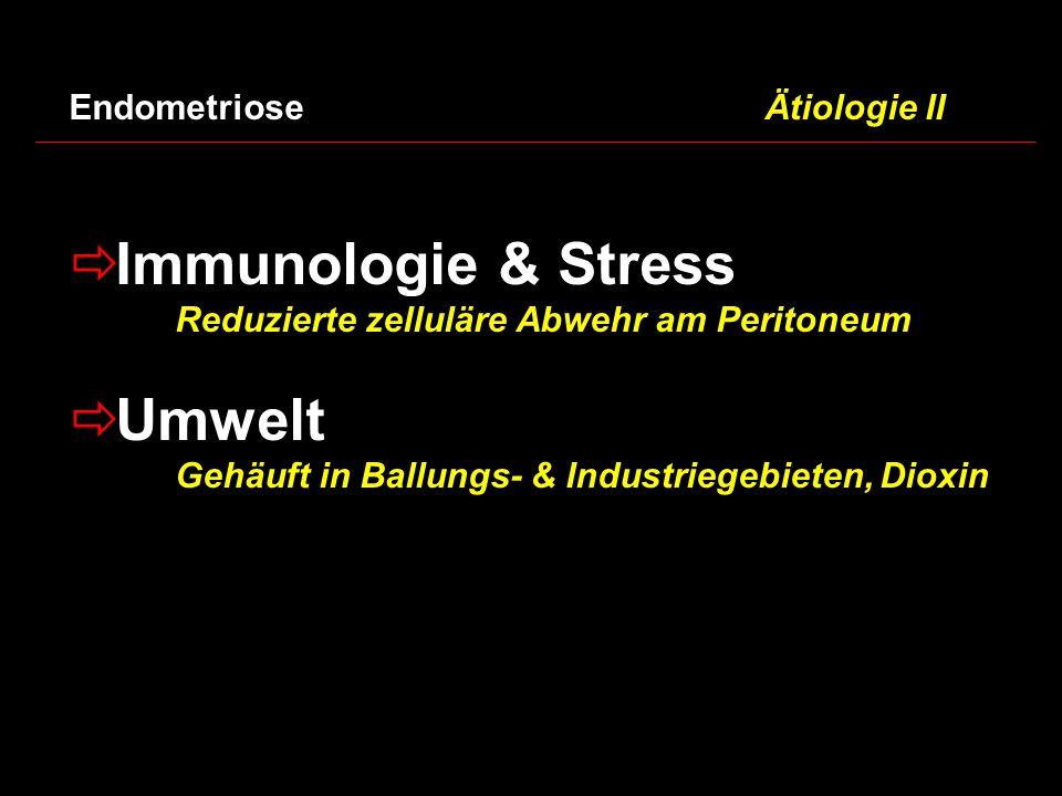 Immunologie & Stress Umwelt Endometriose Ätiologie II