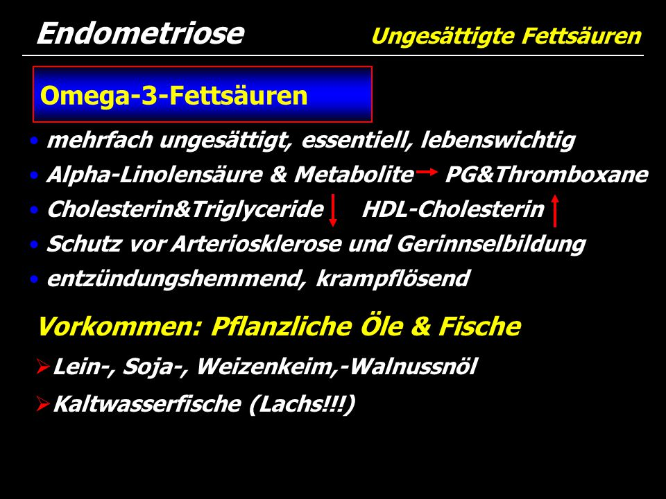 Endometriose Ungesättigte Fettsäuren