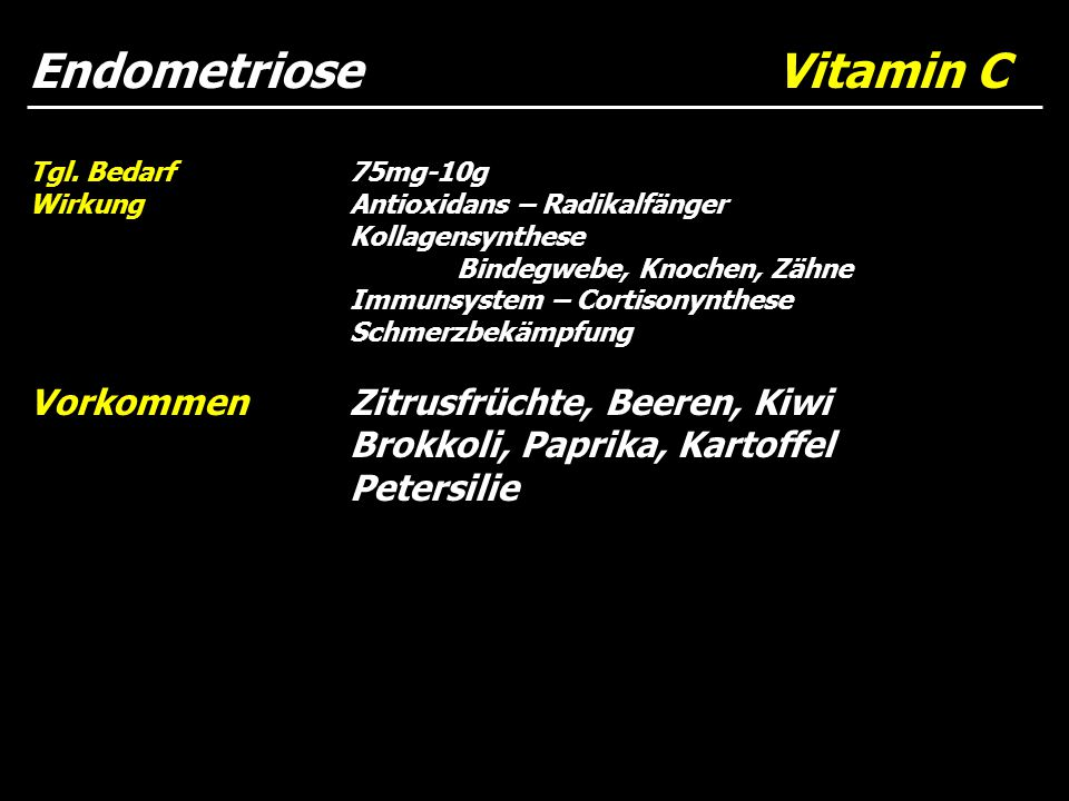 Endometriose Vitamin C