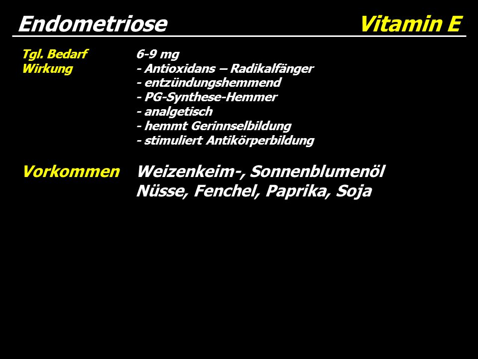 Endometriose Vitamin E