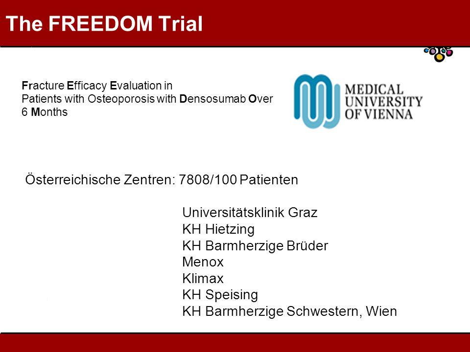 The FREEDOM Trial Österreichische Zentren: 7808/100 Patienten