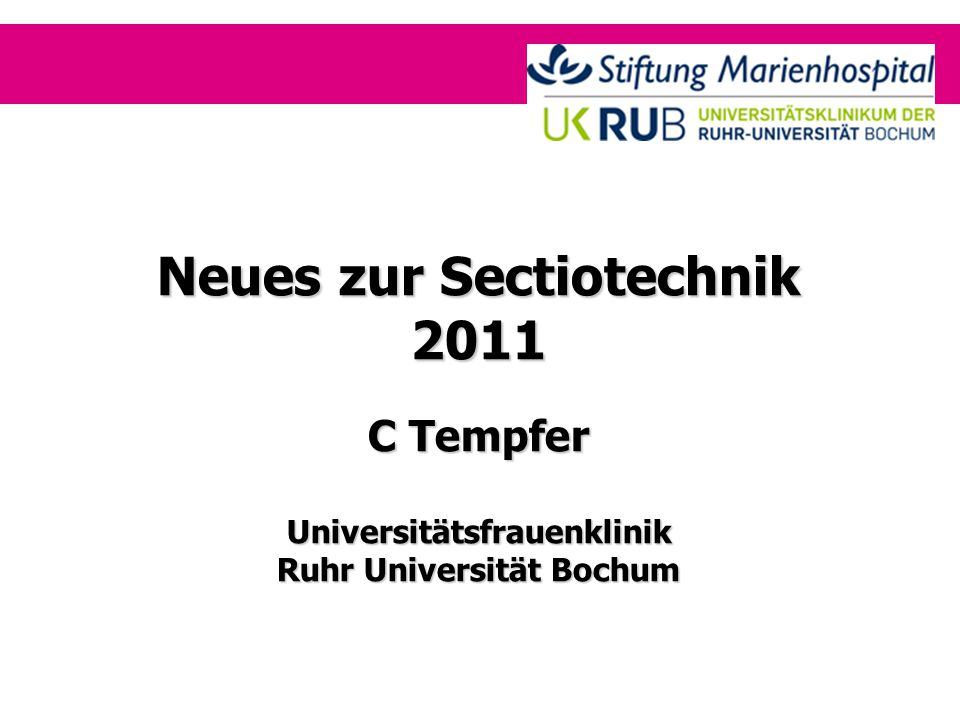 Neues zur Sectiotechnik 2011