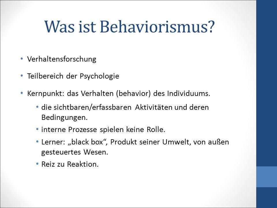 Was ist Behaviorismus Verhaltensforschung Teilbereich der Psychologie
