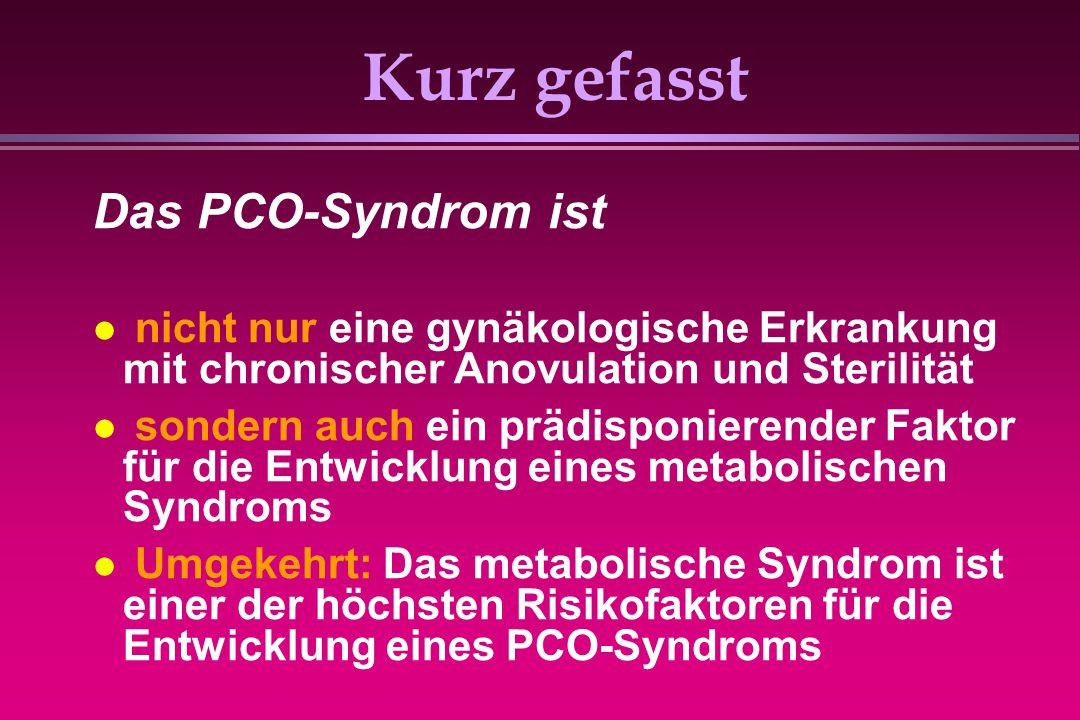 Kurz gefasst Das PCO-Syndrom ist