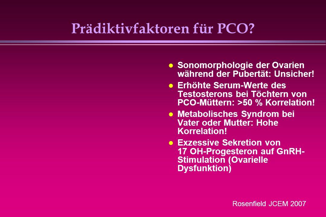 Prädiktivfaktoren für PCO