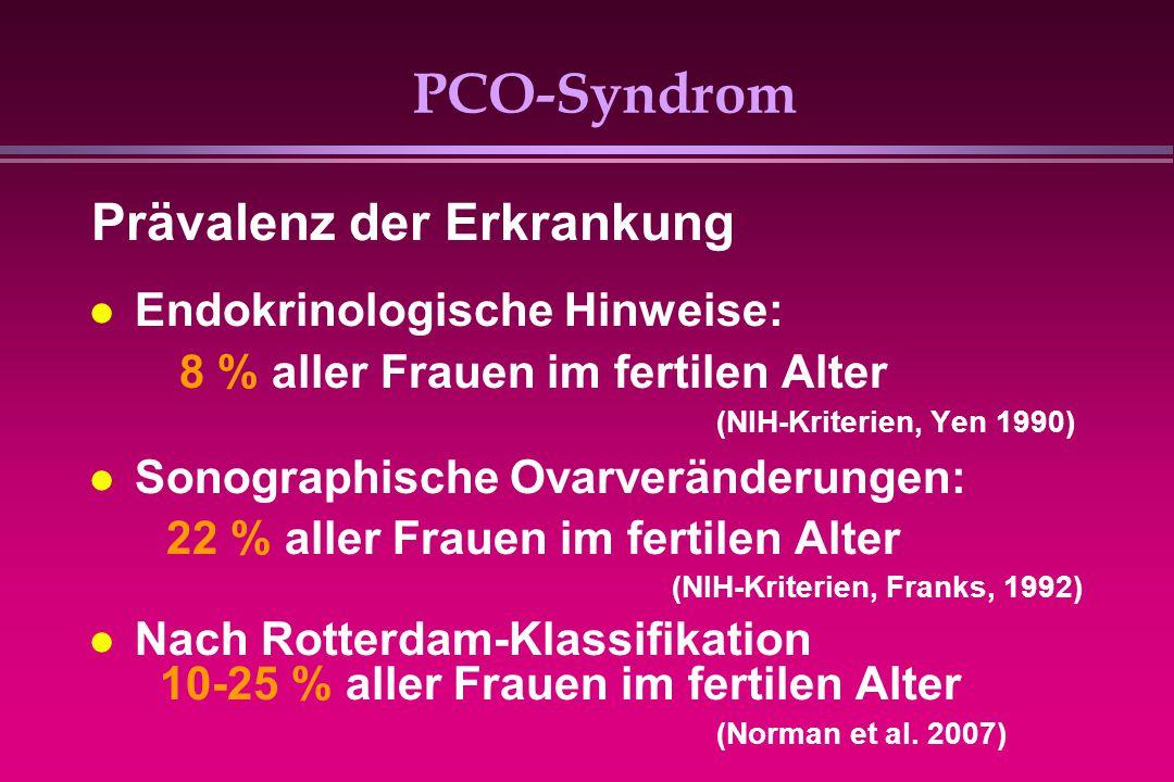 PCO-Syndrom Prävalenz der Erkrankung Endokrinologische Hinweise: