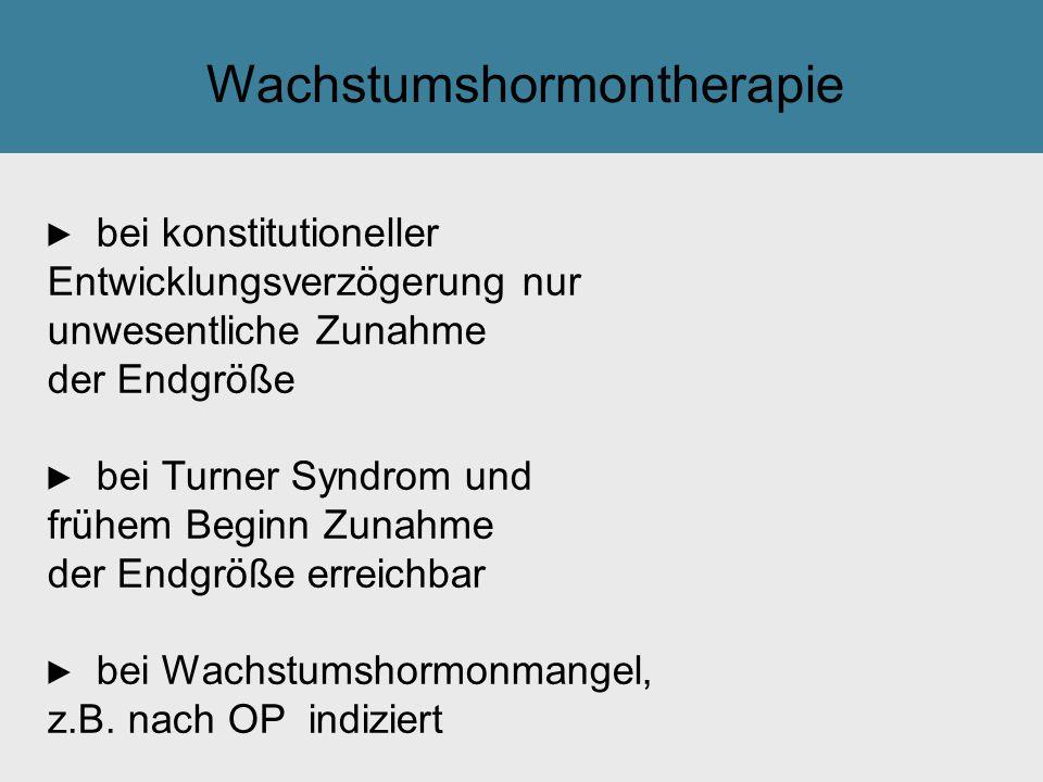 Wachstumshormontherapie