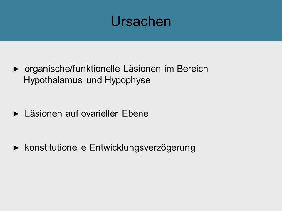 Ursachen ► organische/funktionelle Läsionen im Bereich
