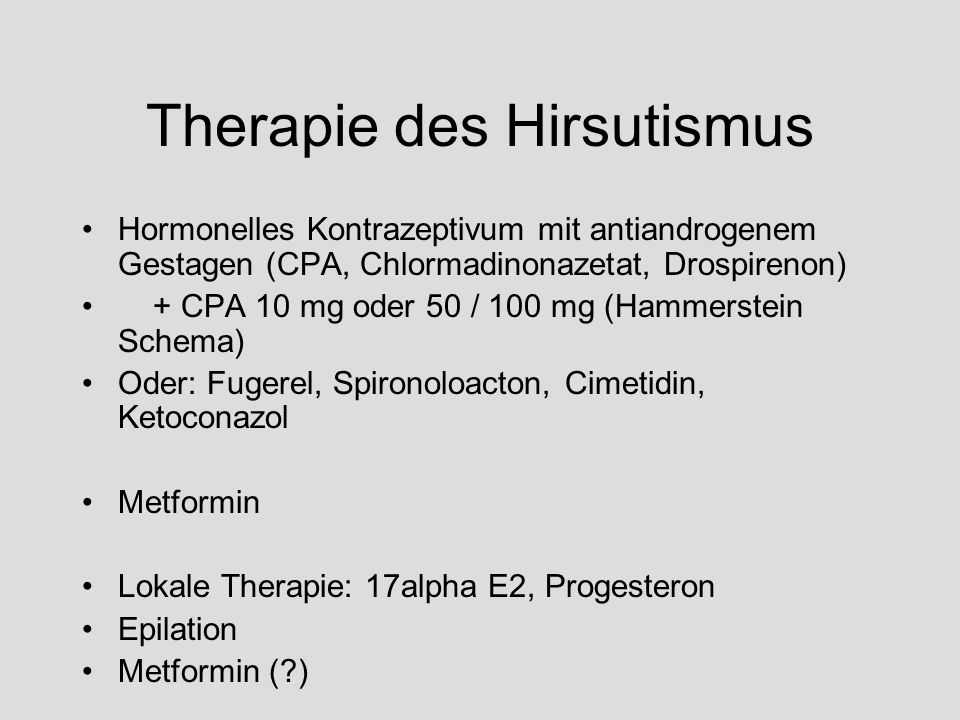 Therapie des Hirsutismus