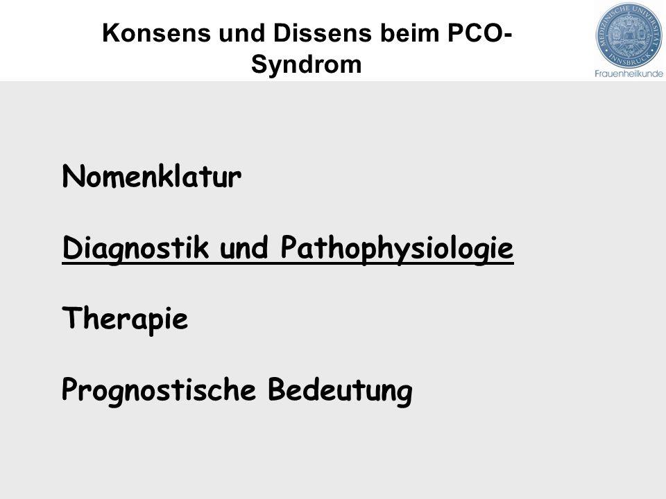 Konsens und Dissens beim PCO- Syndrom
