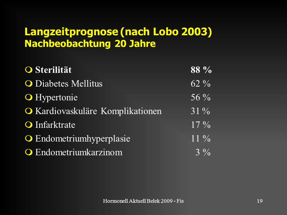 Langzeitprognose (nach Lobo 2003) Nachbeobachtung 20 Jahre