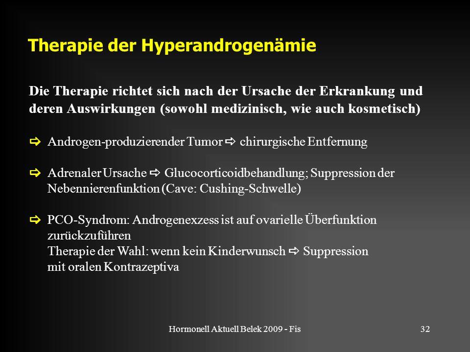Therapie der Hyperandrogenämie