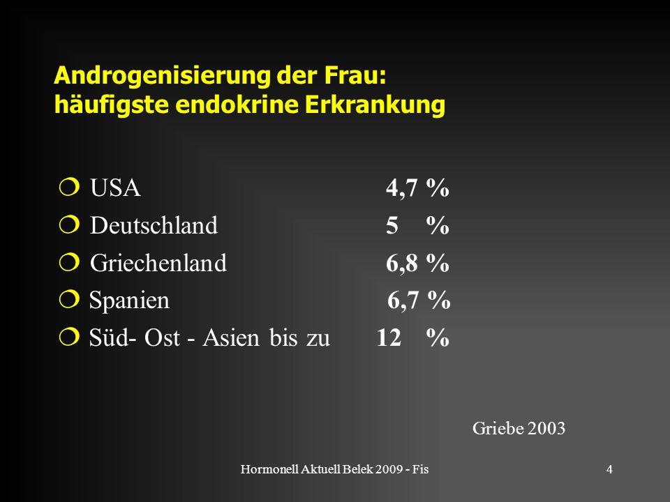 Androgenisierung der Frau: häufigste endokrine Erkrankung