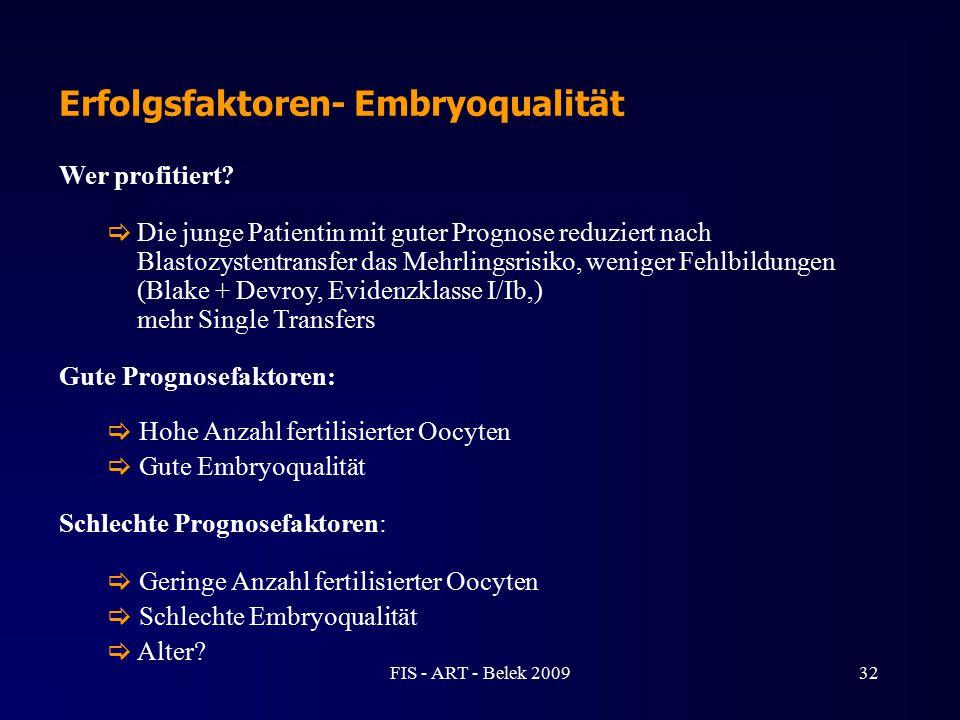 Erfolgsfaktoren- Embryoqualität